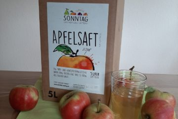 Apfelsaft in der Bag